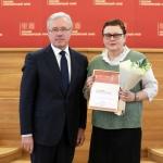 Александр Усс торжественно выразил благодарность Надежде Сухановой